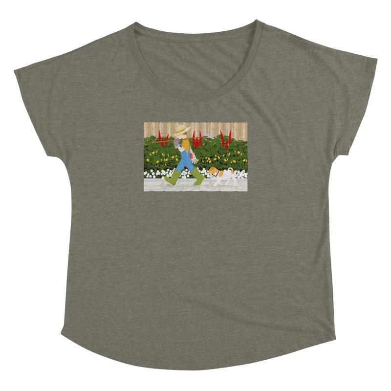 Junior Gardeners Women's Dolman Scoop Neck by grumpyteds's Artist Shop