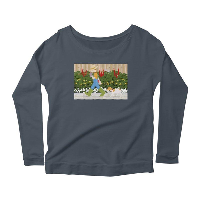Junior Gardeners Women's Scoop Neck Longsleeve T-Shirt by grumpyteds's Artist Shop