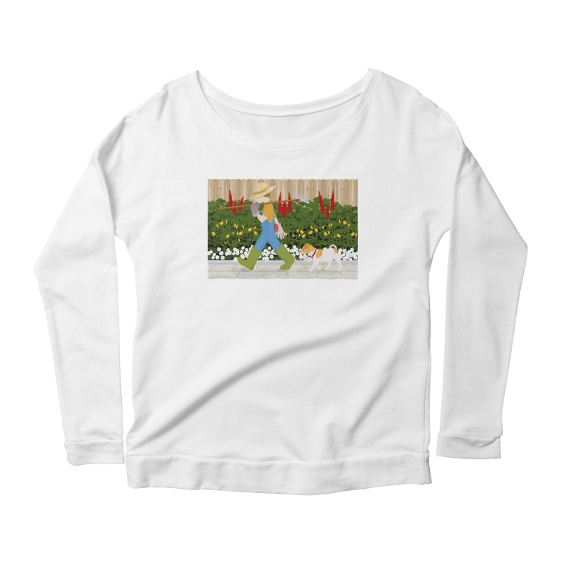Junior Gardeners Women's Scoop Neck Longsleeve T-Shirt by grumpyteds's Artist Shop