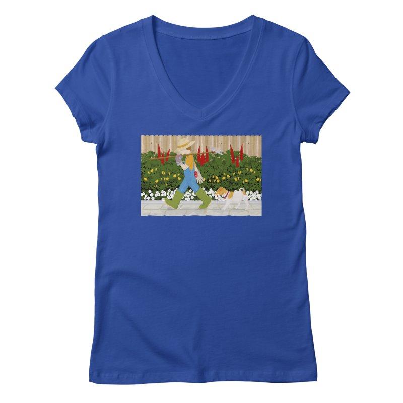Junior Gardeners Women's Regular V-Neck by grumpyteds's Artist Shop