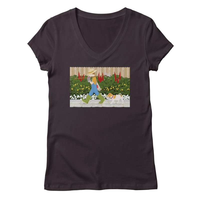 Junior Gardeners Women's Regular V-Neck by grumpyteds's Artist Shop