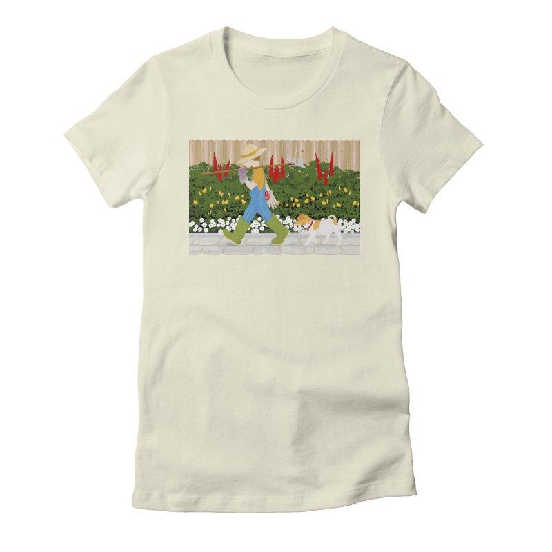 Junior Gardeners Women's Fitted T-Shirt by grumpyteds's Artist Shop