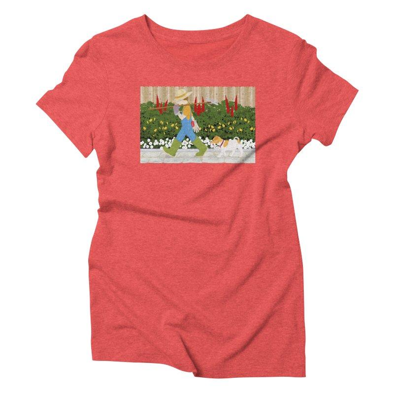 Junior Gardeners Women's Triblend T-Shirt by grumpyteds's Artist Shop