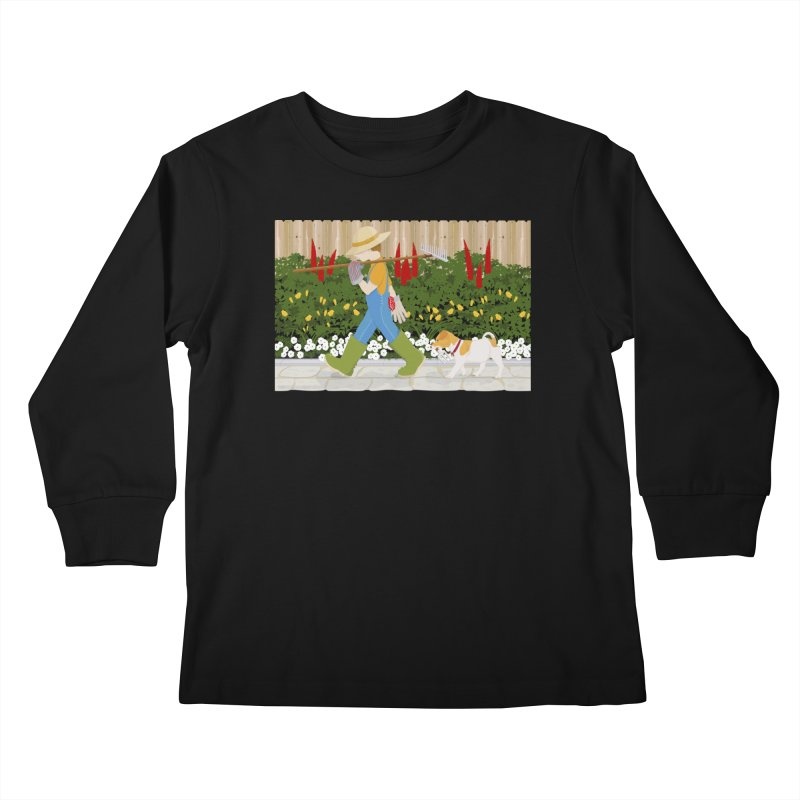 Junior Gardeners Kids Longsleeve T-Shirt by grumpyteds's Artist Shop