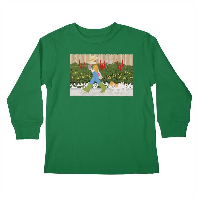 Junior Gardeners Kids Longsleeve T-Shirt by grumpyteds's Artist Shop