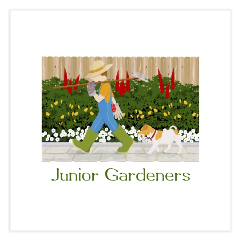 Junior Gardeners Home Fine Art Print by grumpyteds's Artist Shop