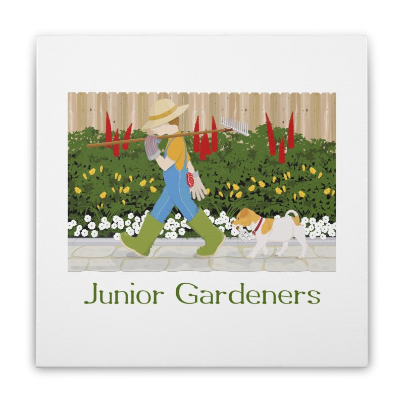 Junior Gardeners Home Stretched Canvas by grumpyteds's Artist Shop