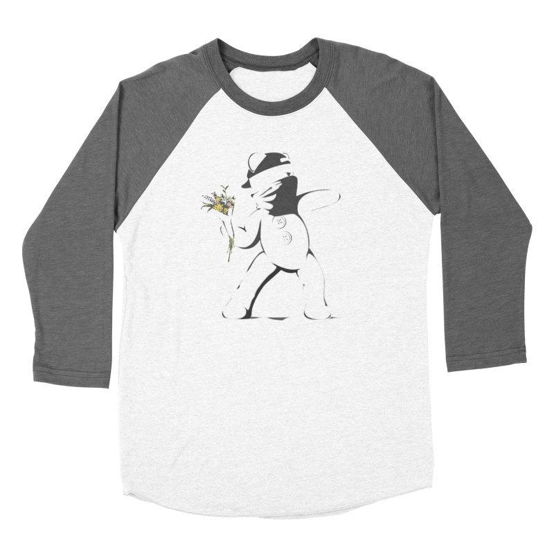 Graffiti Bear Women's Baseball Triblend Longsleeve T-Shirt by grumpyteds's Artist Shop