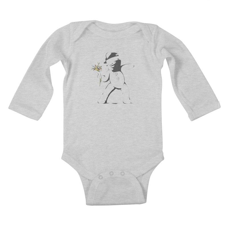 Graffiti Bear Kids Baby Longsleeve Bodysuit by grumpyteds's Artist Shop