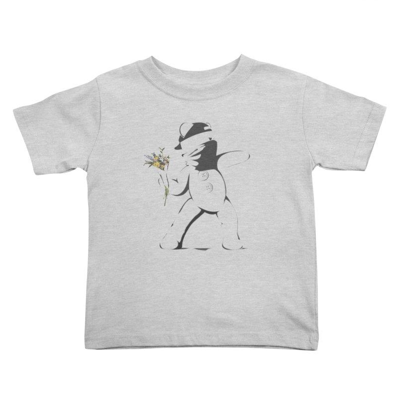 Graffiti Bear Kids Toddler T-Shirt by grumpyteds's Artist Shop