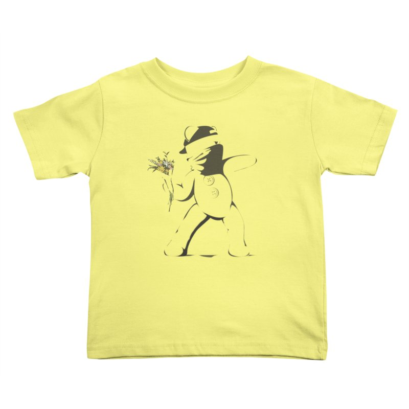 Graffiti Bear Kids Toddler T-Shirt by grumpyteds's Artist Shop