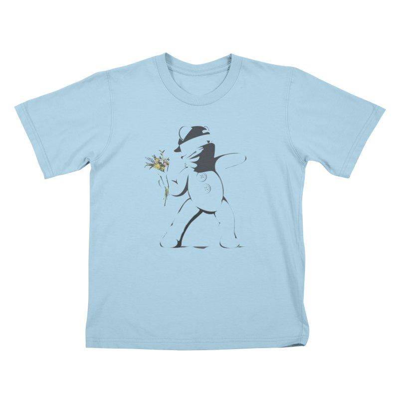 Graffiti Bear Kids T-Shirt by grumpyteds's Artist Shop