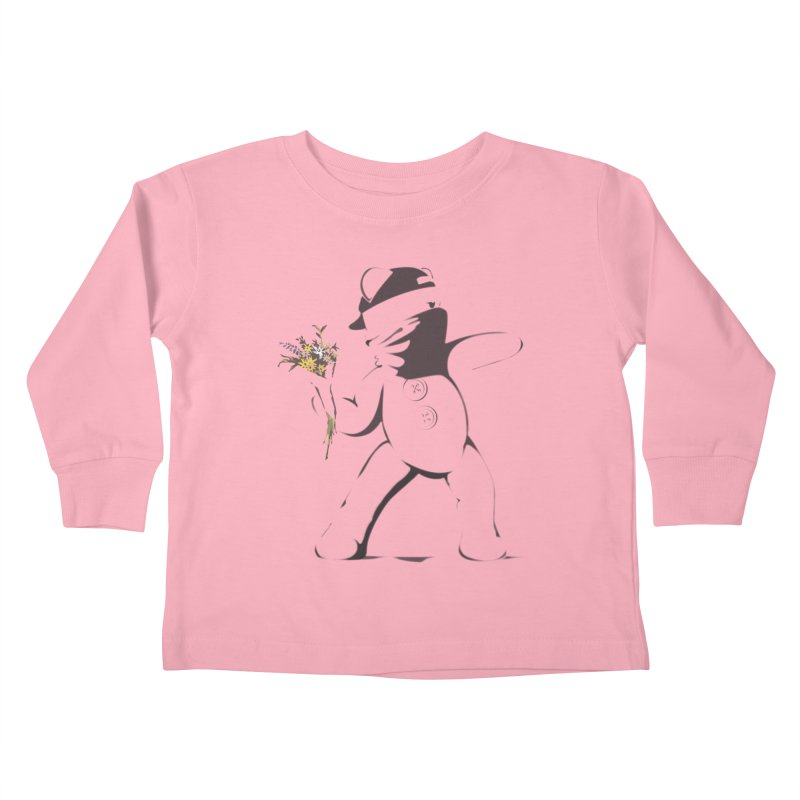 Graffiti Bear Kids Toddler Longsleeve T-Shirt by grumpyteds's Artist Shop