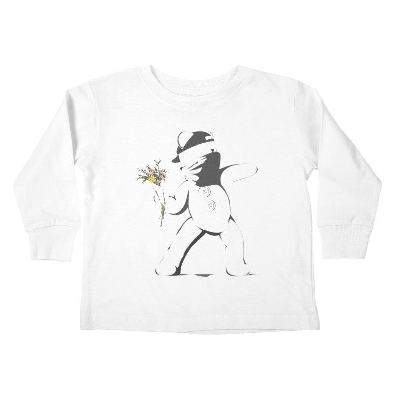 Graffiti Bear Kids Toddler Longsleeve T-Shirt by grumpyteds's Artist Shop