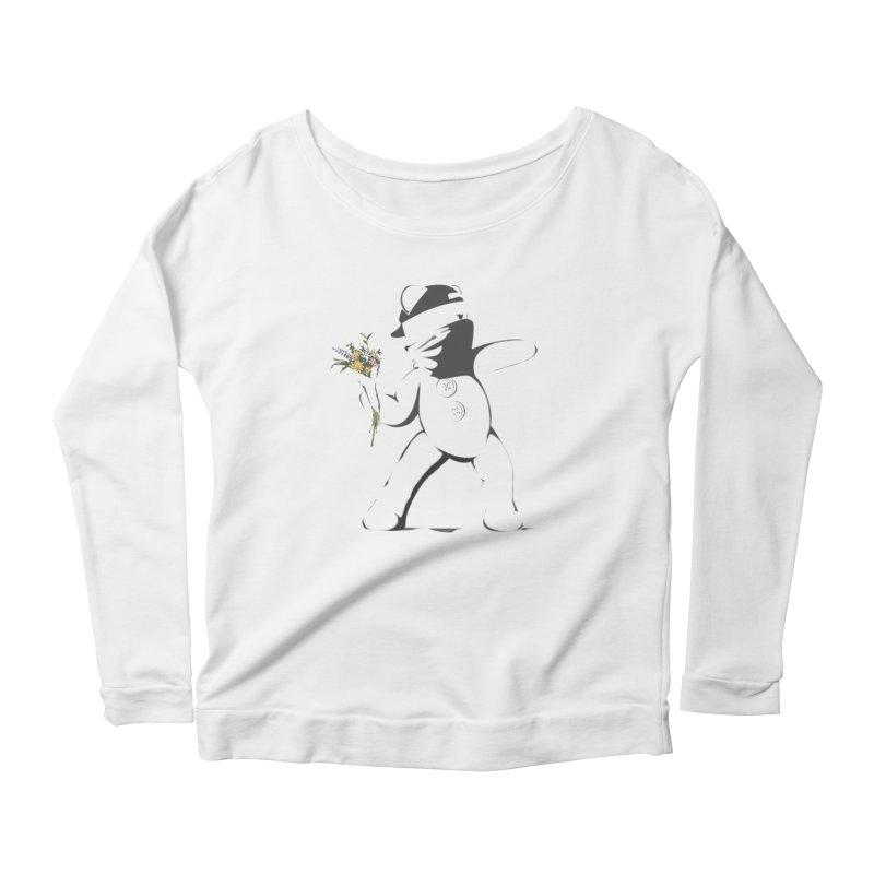 Graffiti Bear Women's Scoop Neck Longsleeve T-Shirt by grumpyteds's Artist Shop