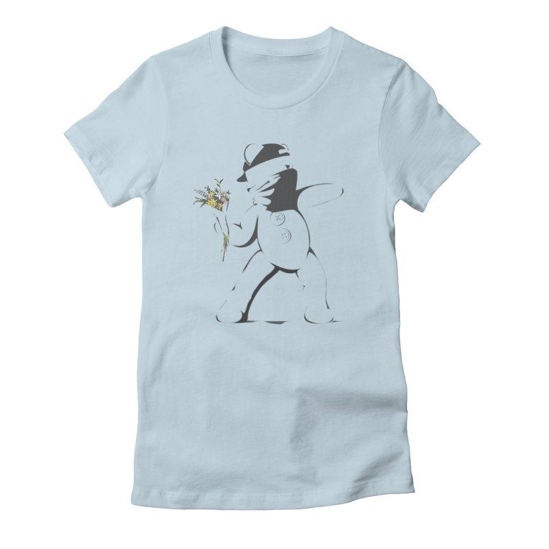 Graffiti Bear Women's Fitted T-Shirt by grumpyteds's Artist Shop