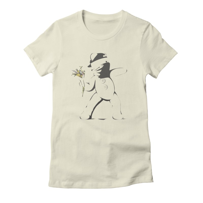 Graffiti Bear Women's Fitted T-Shirt by grumpyteds's Artist Shop