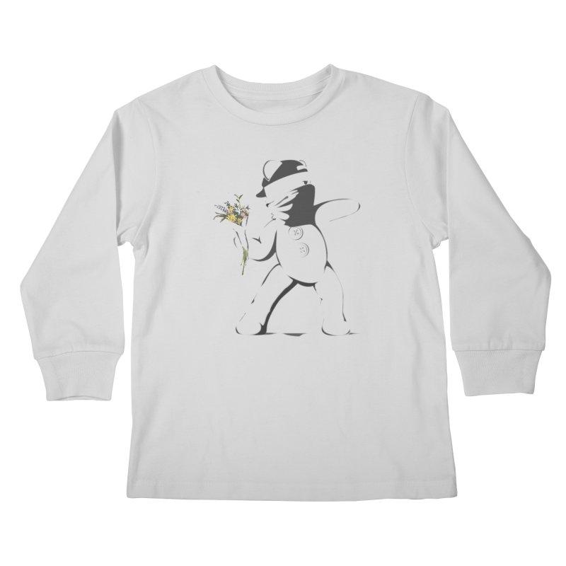Graffiti Bear Kids Longsleeve T-Shirt by grumpyteds's Artist Shop