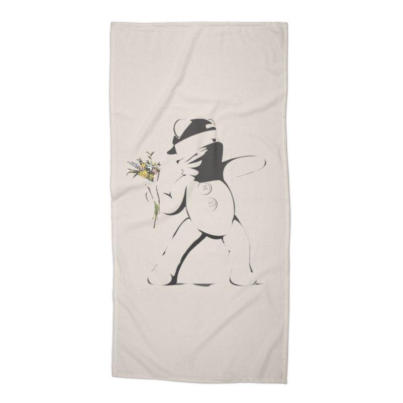 Graffiti Bear Accessories Beach Towel by grumpyteds's Artist Shop