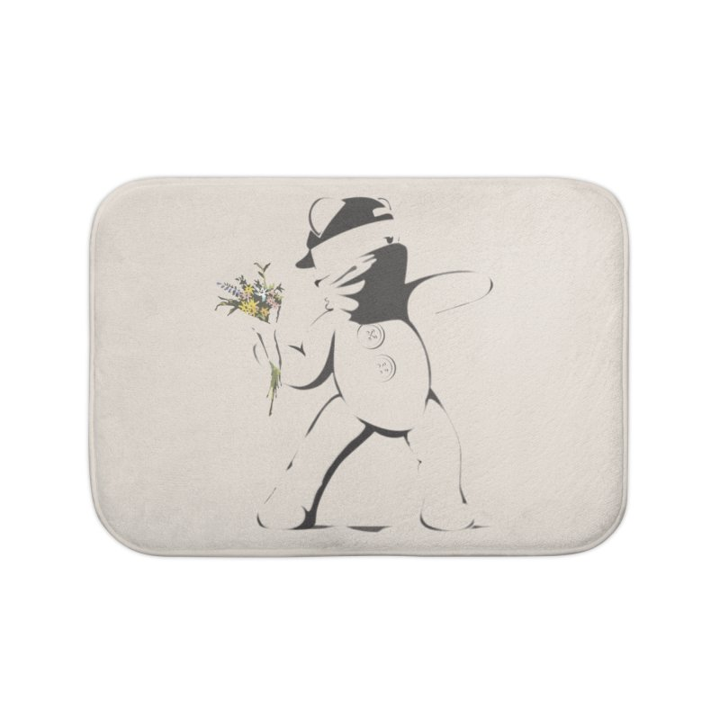 Graffiti Bear Home Bath Mat by grumpyteds's Artist Shop