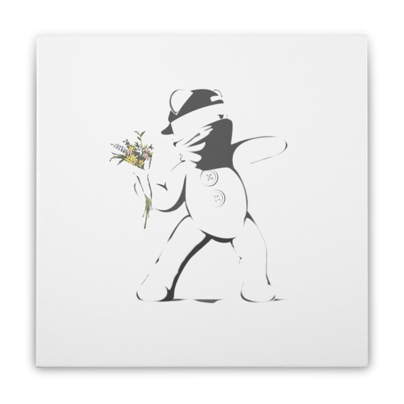Graffiti Bear Home Stretched Canvas by grumpyteds's Artist Shop