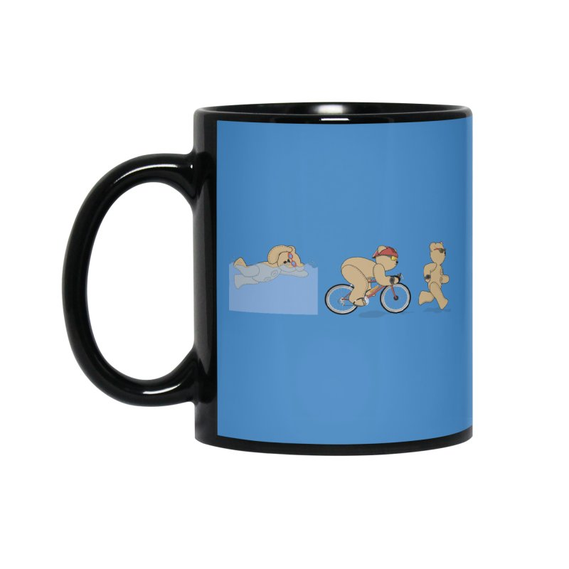 Triathlon Bear Accessories Mug by grumpyteds's Artist Shop