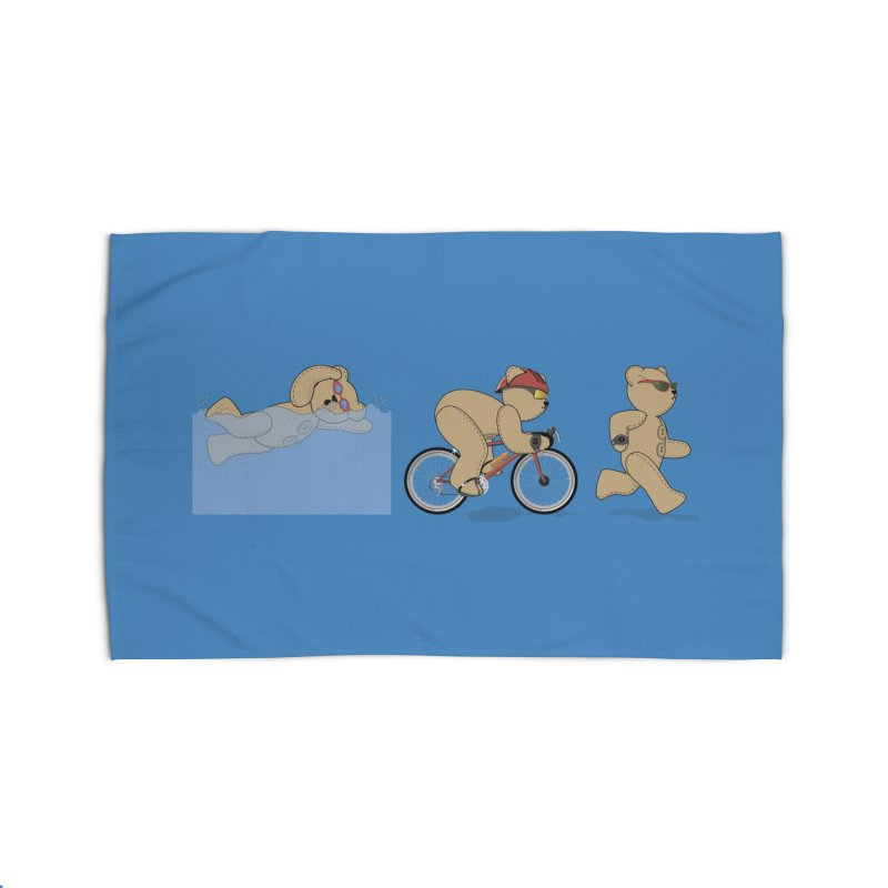 Triathlon Bear Home Rug by grumpyteds's Artist Shop