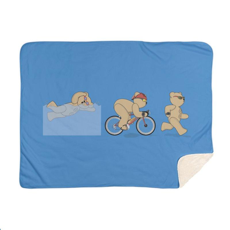 Triathlon Bear Home Blanket by grumpyteds's Artist Shop