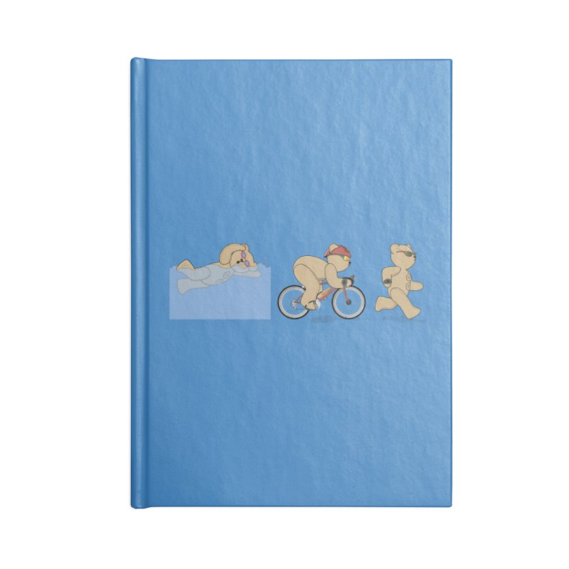 Triathlon Bear Accessories Blank Journal Notebook by grumpyteds's Artist Shop