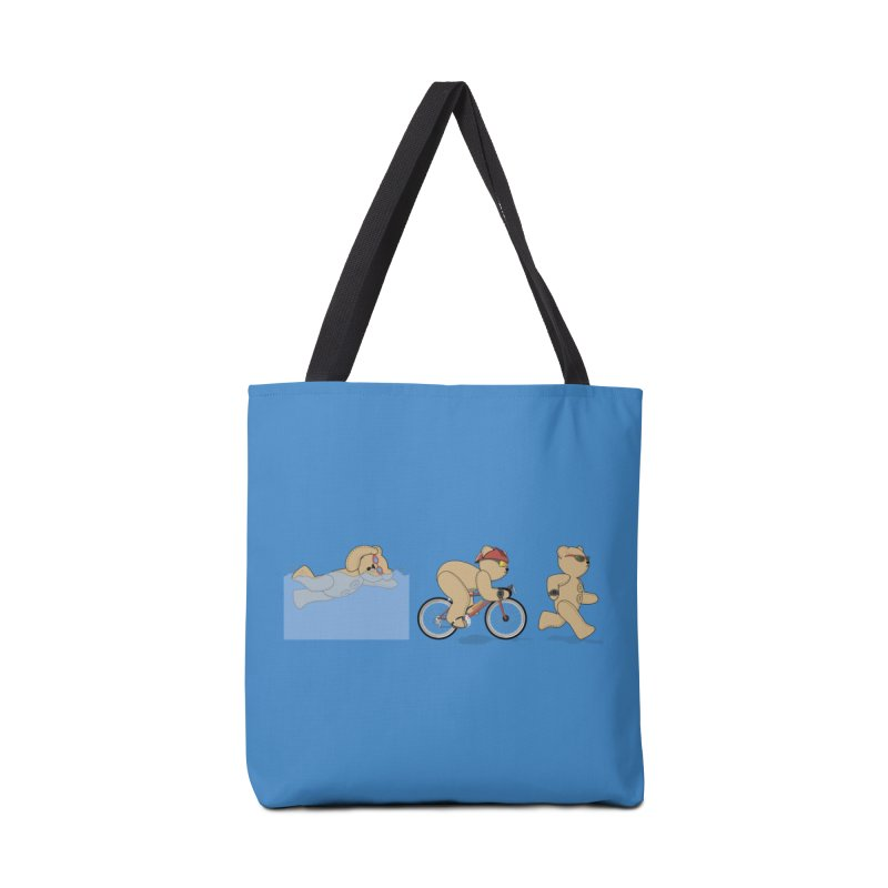 Triathlon Bear Accessories Tote Bag Bag by grumpyteds's Artist Shop