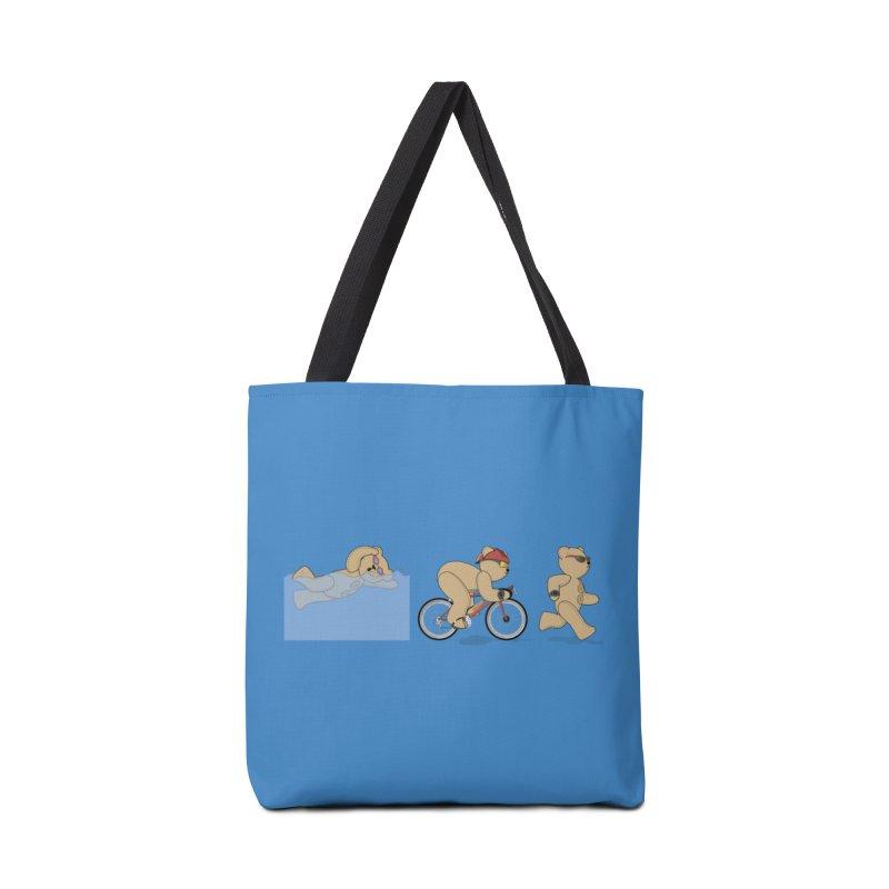 Triathlon Bear Accessories Tote Bag Bag by grumpyteds's Artist Shop
