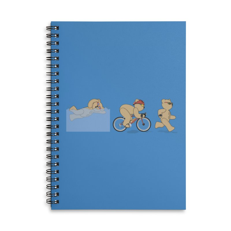 Triathlon Bear Accessories Notebook by grumpyteds's Artist Shop