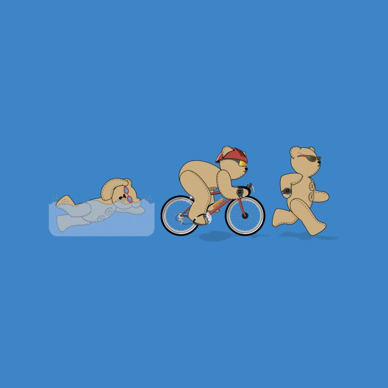 Triathlon Bear Women's T-Shirt by grumpyteds's Artist Shop