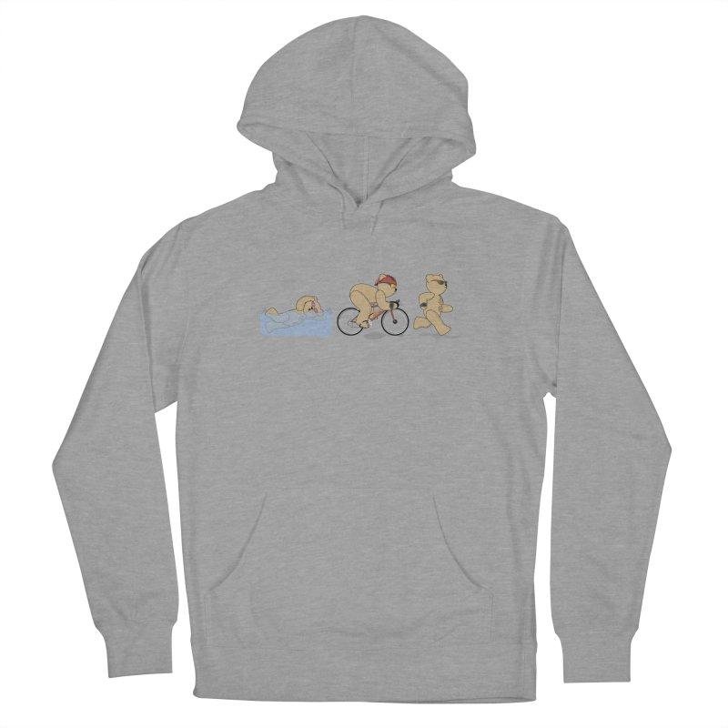 Triathlon Bear Women's Pullover Hoody by grumpyteds's Artist Shop