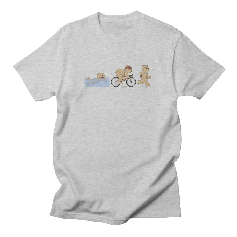Triathlon Bear Men's T-Shirt by grumpyteds's Artist Shop