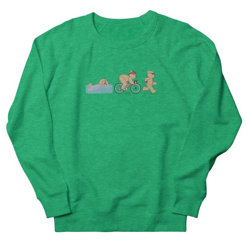Triathlon Bear Women's Sweatshirt by grumpyteds's Artist Shop