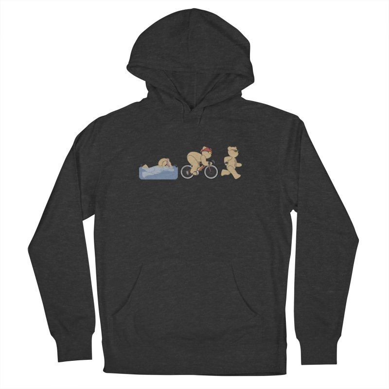 Triathlon Bear Men's French Terry Pullover Hoody by grumpyteds's Artist Shop