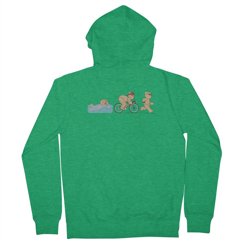 Triathlon Bear Men's Zip-Up Hoody by grumpyteds's Artist Shop