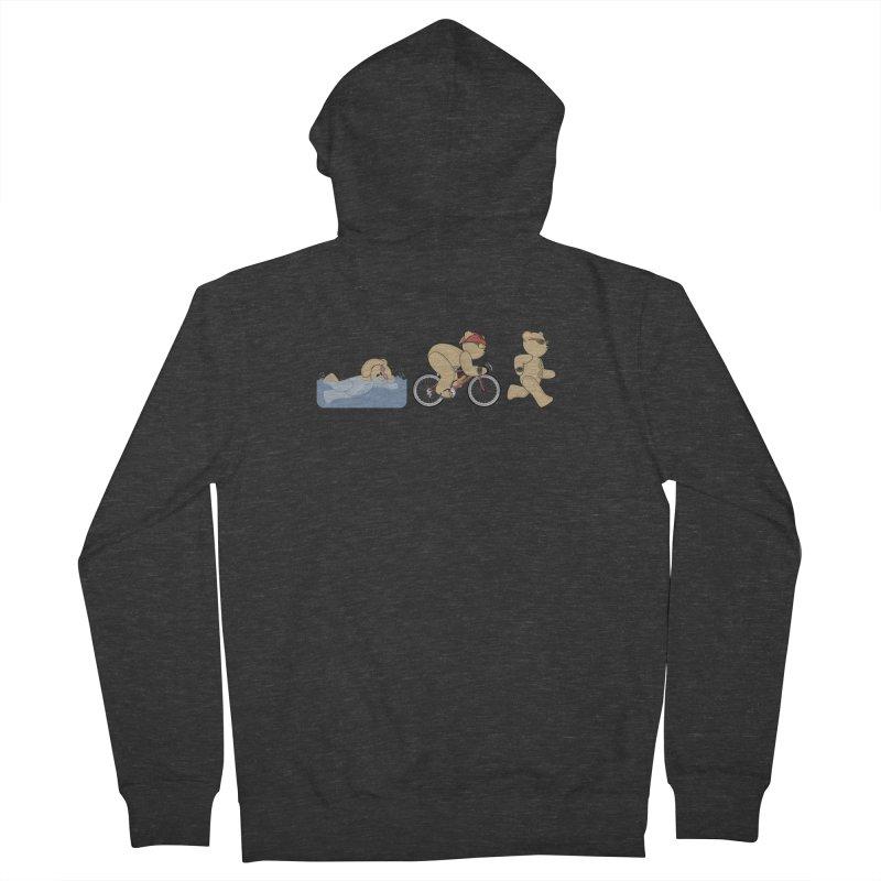 Triathlon Bear Men's Zip-Up Hoody by grumpyteds's Artist Shop