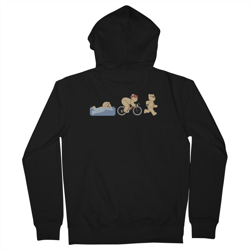 Triathlon Bear Men's French Terry Zip-Up Hoody by grumpyteds's Artist Shop