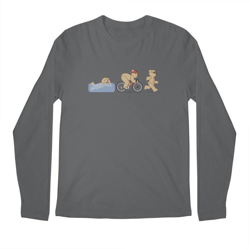 Triathlon Bear Men's Longsleeve T-Shirt by grumpyteds's Artist Shop