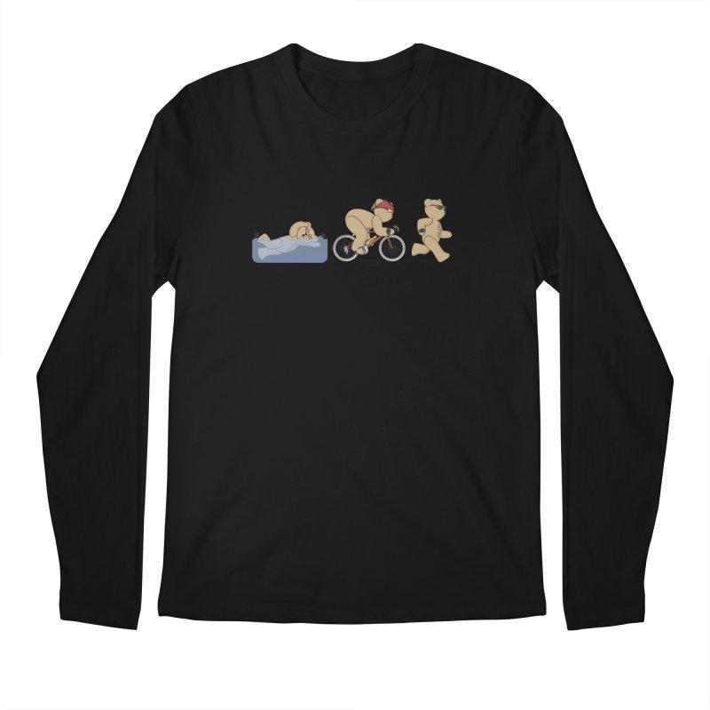Triathlon Bear Men's Regular Longsleeve T-Shirt by grumpyteds's Artist Shop
