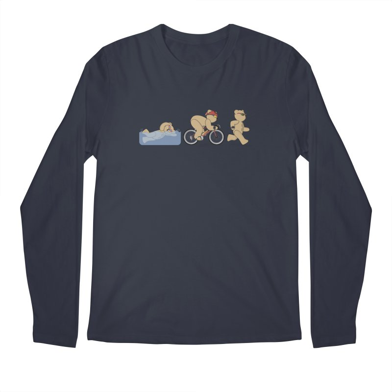 Triathlon Bear Men's Regular Longsleeve T-Shirt by grumpyteds's Artist Shop