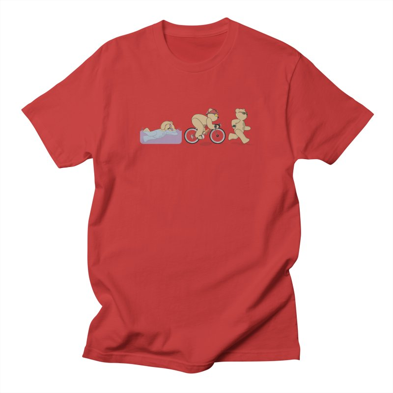 Triathlon Bear Women's Regular Unisex T-Shirt by grumpyteds's Artist Shop