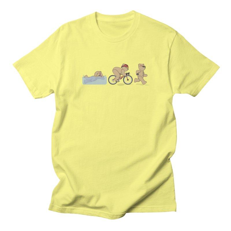 Triathlon Bear Men's Regular T-Shirt by grumpyteds's Artist Shop