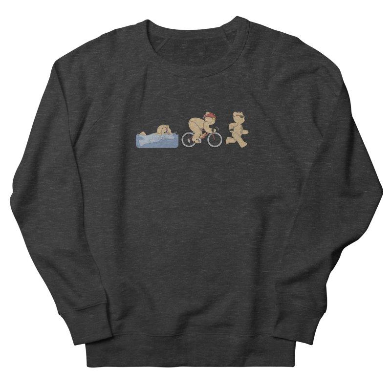 Triathlon Bear Women's French Terry Sweatshirt by grumpyteds's Artist Shop