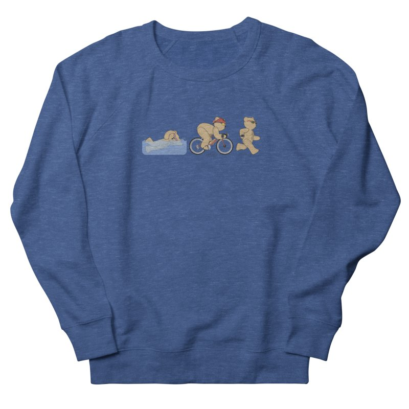 Triathlon Bear Women's French Terry Sweatshirt by grumpyteds's Artist Shop