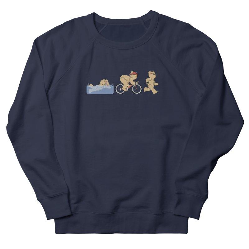 Triathlon Bear Men's French Terry Sweatshirt by grumpyteds's Artist Shop