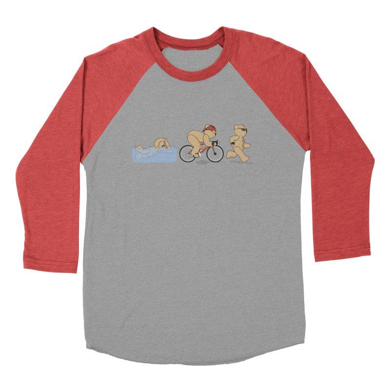 Triathlon Bear Women's Baseball Triblend Longsleeve T-Shirt by grumpyteds's Artist Shop