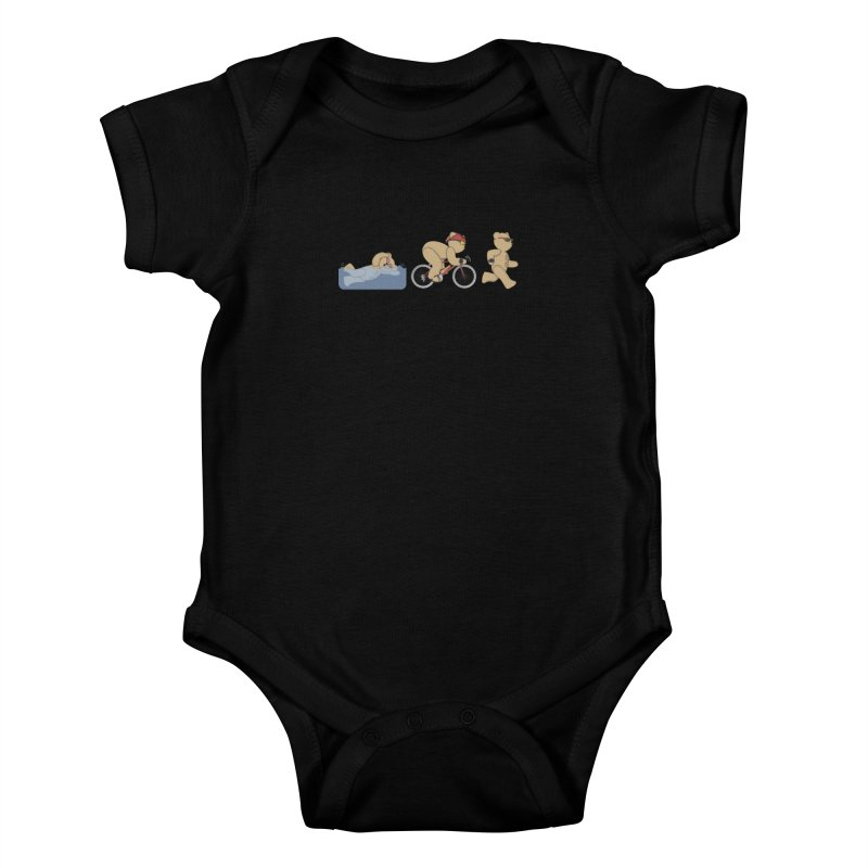 Triathlon Bear Kids Baby Bodysuit by grumpyteds's Artist Shop